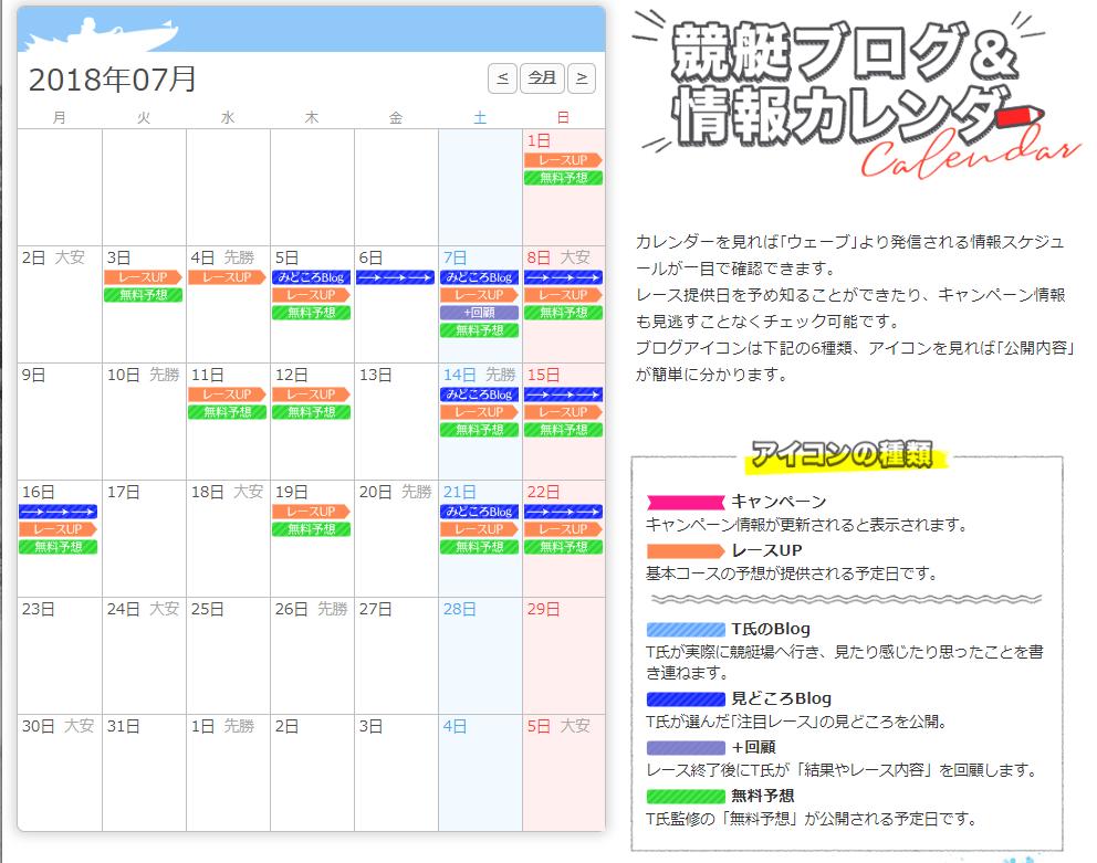 検証中 競艇ウェーブ(WAVE) 口コミ検証や無料情報の予想結果も公開中 カレンダー表示