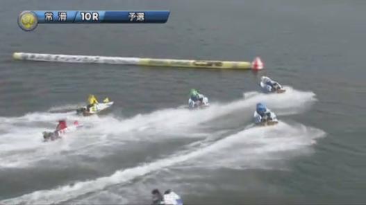 オーシャンカップ2019 常滑 7月10日初日10Rで起こった岡崎恭裕選手と桐生順平選手の事故の瞬間まで3