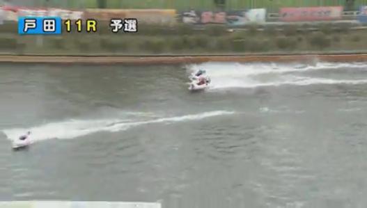 G1戸田プリムローズ開設63周年記念で桐生順平選手が転覆 最終周回第2マークへ