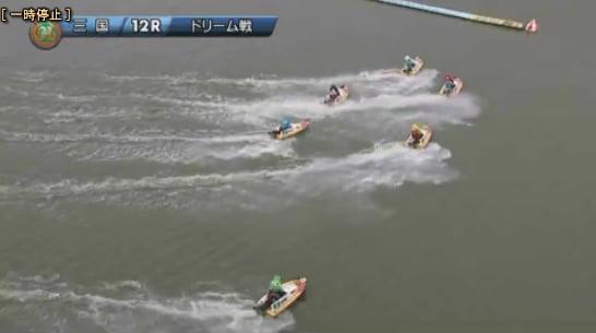 2019ヤングダービー三国競艇場 初日12Rドリーム戦一周目1マークへターン