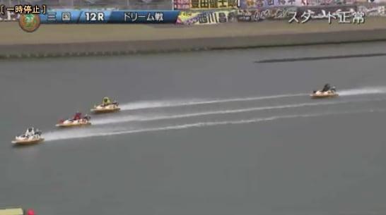 2019ヤングダービー三国競艇場 初日12Rドリーム戦一周目の展開
