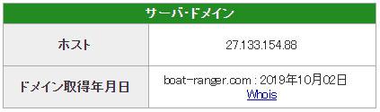 悪徳 競艇レンジャー 競艇予想サイトの口コミ検証や無料情報の予想結果も公開中 ドメイン取得日は2019年10月2日