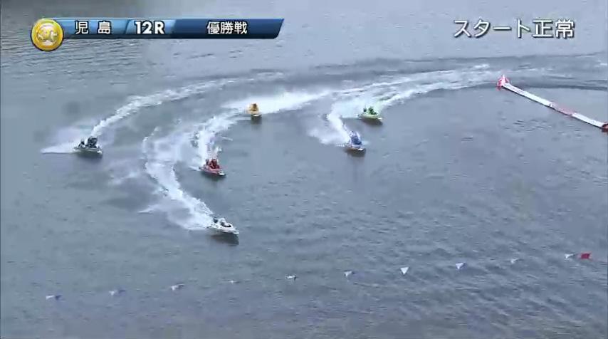 2019年10月27日 児島競艇場SGボートレースダービー優勝戦 1周2マークを回って直線に入った時には毒島誠選手は独走状態に