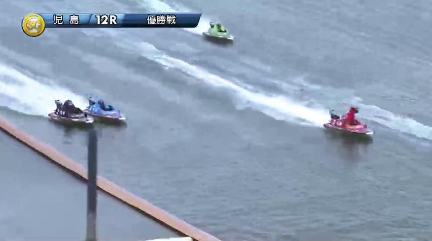 2019年10月27日 児島競艇場SGボートレースダービー優勝戦 馬場貴也選手と松田祐季選手の熾烈な3番手争いは2周目に入っても続く