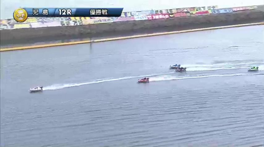 2019年10月27日 児島競艇場SGボートレースダービー優勝戦 馬場貴也選手と松田祐季選手の熾烈な3番手争いは2周1マークを回ってもまだ並走