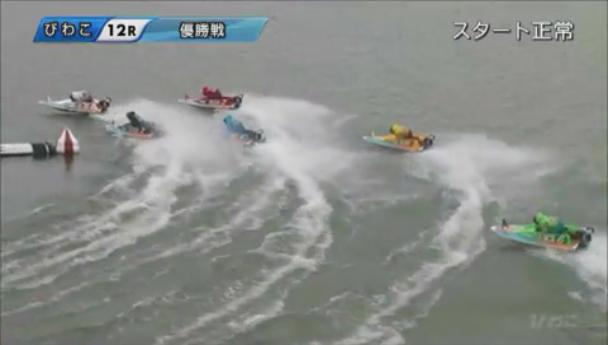 G3キリンカップ2019優勝戦(びわこ競艇場) 1周1マークで丸野一樹選手が逃げる!