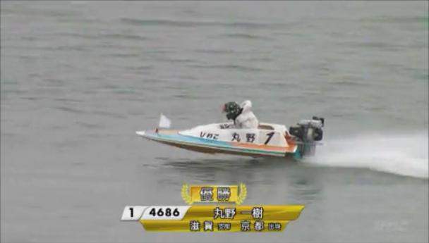G3キリンカップ2019優勝戦(びわこ競艇場) 1号艇の丸野一樹選手おめでとう~!!