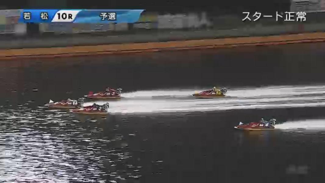 競艇アクシデント・事故 読売新聞社杯G1全日本覇者決定戦開設67周年記念3日目10R 1周1マークを回り直線へ ボートレース