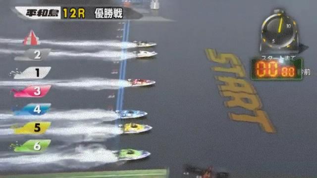 2019年第65回トーキョー・ベイ・カップ(平和島競艇場) 最終日12R優勝戦スタート