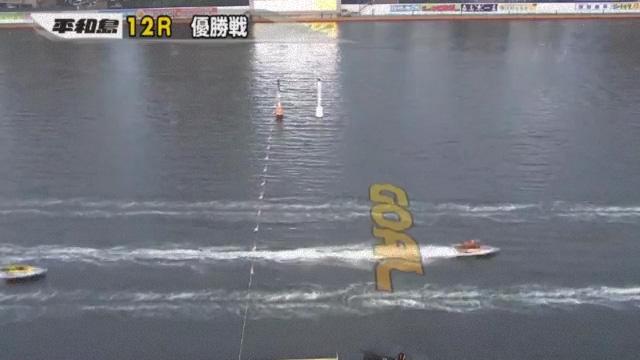 2019年第65回トーキョー・ベイ・カップ(平和島競艇場) 最終日12R優勝戦 3着原田幸哉選手ゴールイン