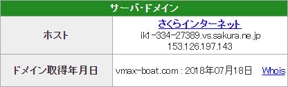 優良 V-MAX(ブイマックス)がリニューアル 競艇予想サイトの口コミ検証や無料情報の予想結果も公開中 競艇革命 V-MAXのドメイン取得日