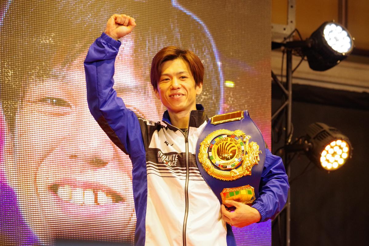 PG1BBCトーナメント決勝戦 田村隆信選手チャンピオンベルトも似合ってた
