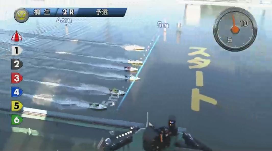 SGチャレンジカップ 柳沢一選手が痛恨のフライング、その瞬間 2号艇は萩原秀人選手 桐生競艇場