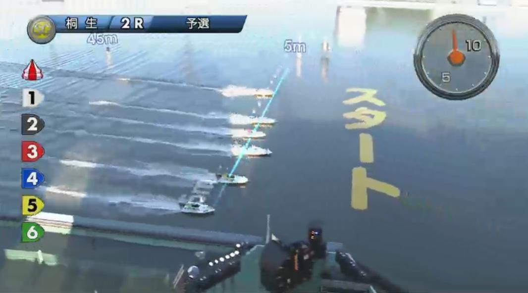 SGチャレンジカップ 柳沢一選手が痛恨のフライング、その瞬間 3号艇は石渡鉄兵選手 桐生競艇場