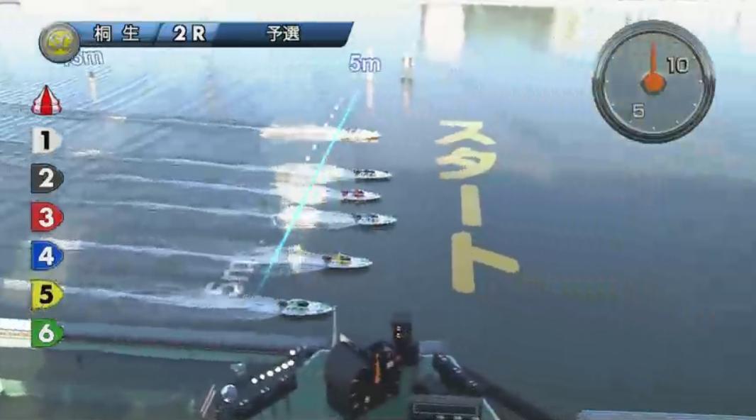 SGチャレンジカップ 柳沢一選手が痛恨のフライング、その瞬間 5号艇が平本真之選手、6号艇稲田浩二選手 桐生競艇場