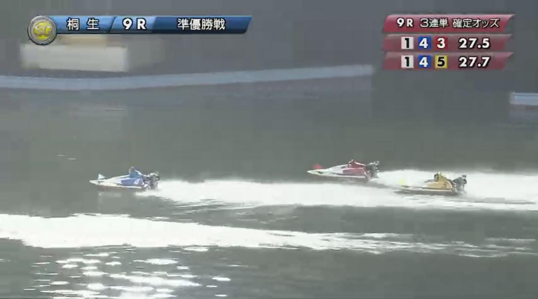 SG2019第22回桐生チャレンジカップ 準優勝戦9R そして湯川浩司選手が追い上げてきて桐生順平選手の3番手争いに 桐生競艇場