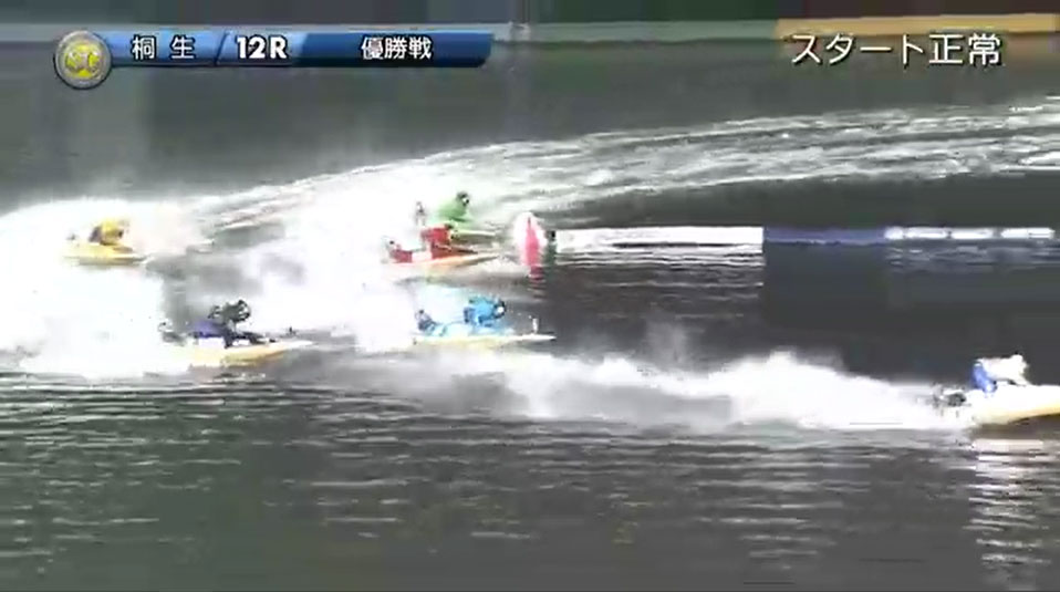 SG2019第22回桐生チャレンジカップ 優勝戦 1周2マークで既に石野貴之選手が独走状態  桐生競艇場