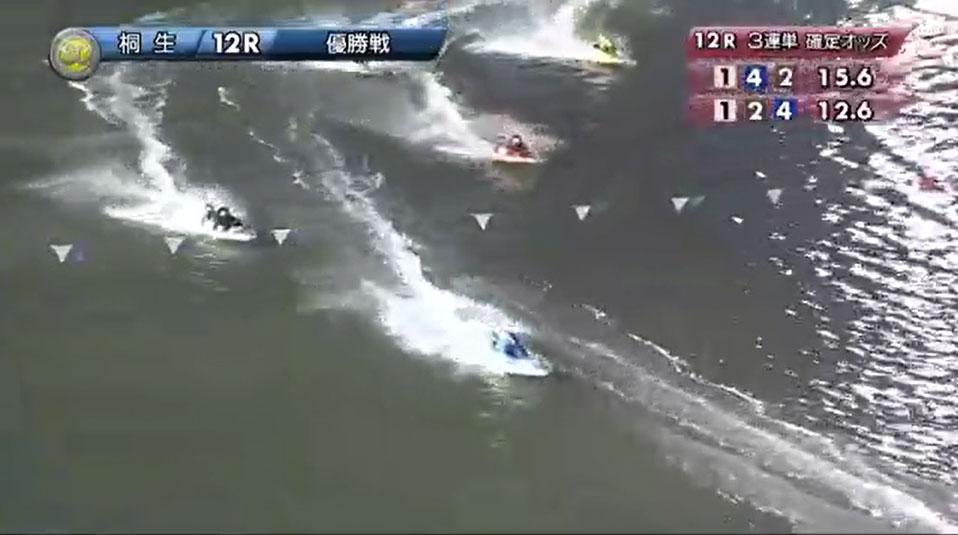 SG2019第22回桐生チャレンジカップ 優勝戦 直線で井口佳典選手が抜けて2番手に 桐生競艇場