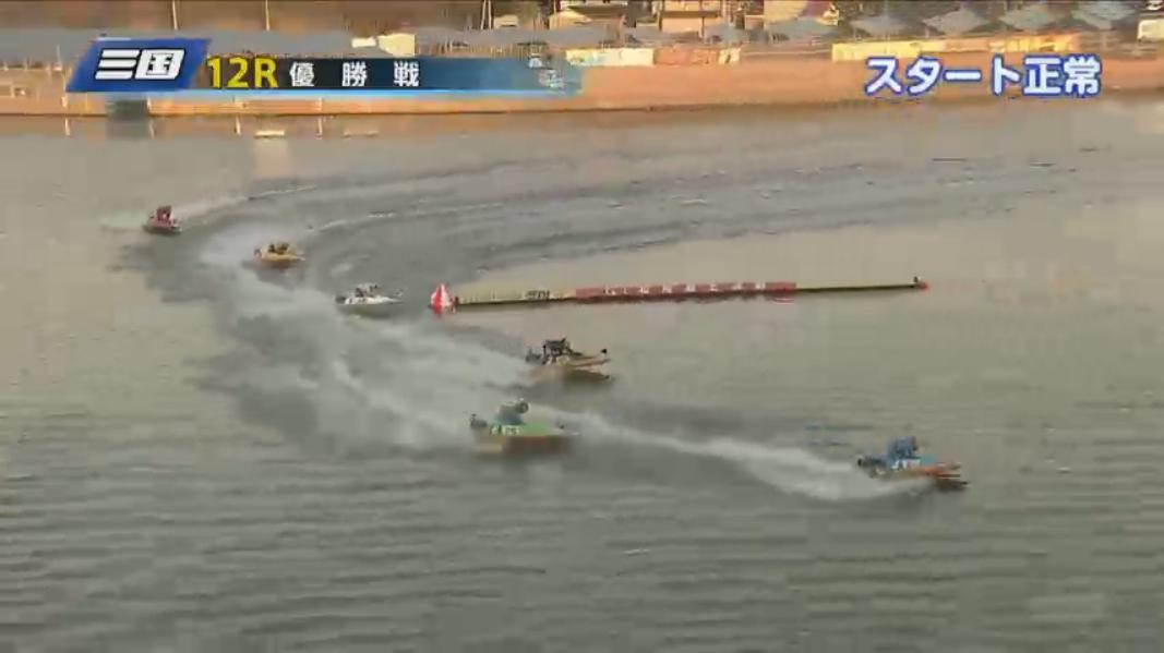 G1 北陸艇王決戦 優勝戦 吉川元浩選手は2マーク旋回、単独トップに