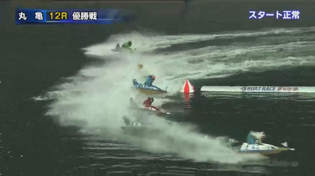 G1京極賞優勝戦(丸亀競艇場) 1周2マークで峰竜太選手再度差しにいくも後退…!
