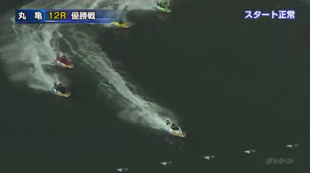 G1京極賞優勝戦(丸亀競艇場) 森高一真選手直線で一気に差をあけにいく