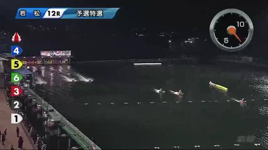 若松夜王S第4戦BOATBoyカップ個性派王決定戦 2日目12R 進入は3対3