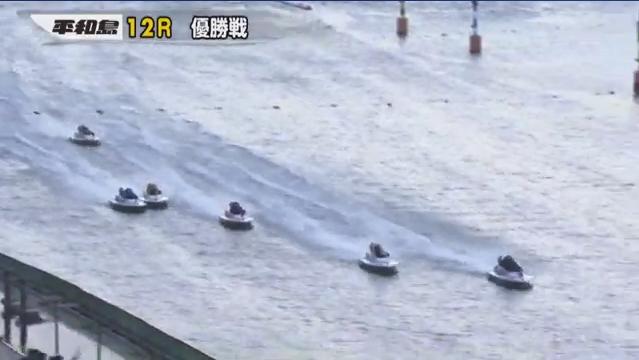 BP横浜開設12周年記念ルーキーシリーズ第22戦 優勝戦 山崎郡選手と藤山雅弘選手のトップ争い