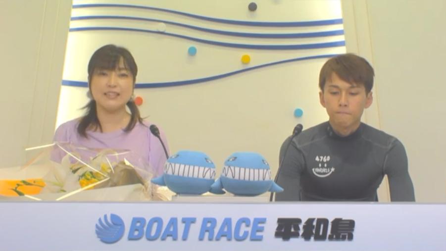 BP横浜開設12周年記念ルーキーシリーズ第22戦 優勝した山崎郡選手のインタビューに笑顔はない