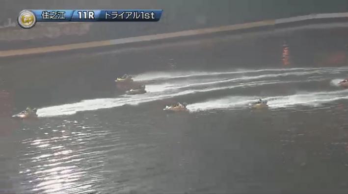 2019年グランプリ(賞金王決定戦)初日トライアル1st 11R 2周1マーク3 ナイター 住之江競艇場