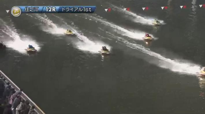 2019年グランプリ(賞金王決定戦)2日日トライアル1st 12R 田村隆信選手が2番手に上がってくる ナイター 住之江競艇場