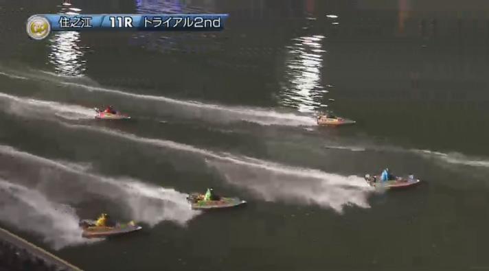 2019年グランプリ(賞金王決定戦)トライアル2nd1日目11R 3番手争いは2周目へ ナイター 住之江競艇場