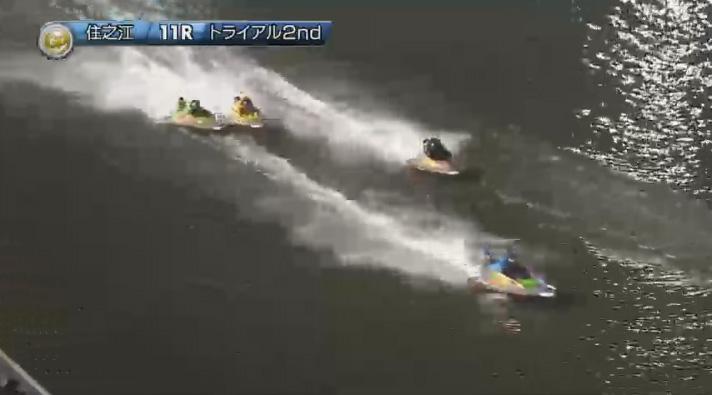 2019年グランプリ(賞金王決定戦)トライアル2nd1日目11R 3番手争いは最終周回へ ナイター 住之江競艇場