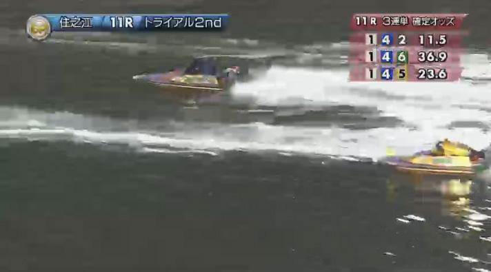 2019年グランプリ(賞金王決定戦)トライアル2nd1日目11R 石野貴之選手が3番手 ナイター 住之江競艇場