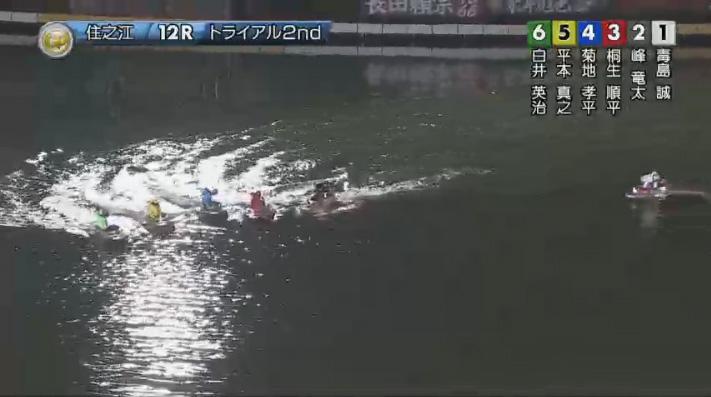 2019年グランプリ(賞金王決定戦)トライアル2nd1日目12R 進入はオールスロー ナイター 住之江競艇場
