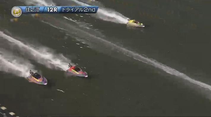 2019年グランプリ(賞金王決定戦)トライアル2nd1日目12R 2番手争い ナイター 住之江競艇場