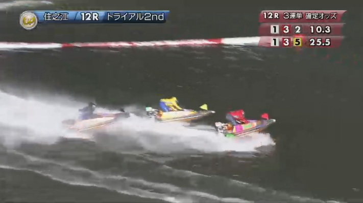 2019年グランプリ(賞金王決定戦)トライアル2nd1日目12R 熾烈な2番手争い ナイター 住之江競艇場