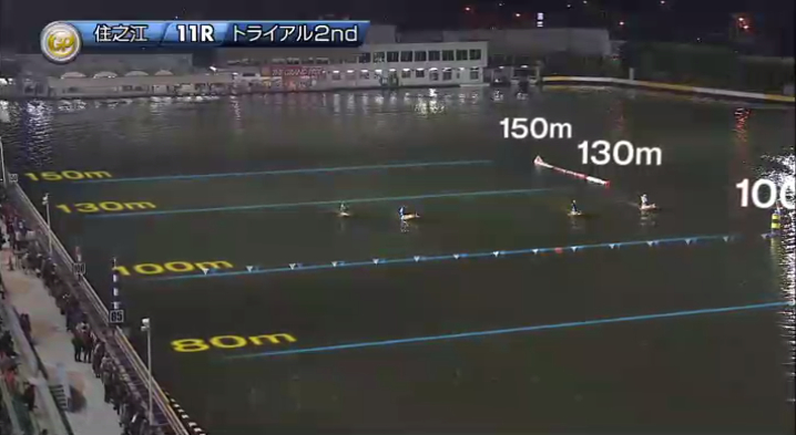 2019年グランプリ(賞金王決定戦)トライアル2nd2日目11R 進入は1246・35の4対2 ナイター 住之江競艇場
