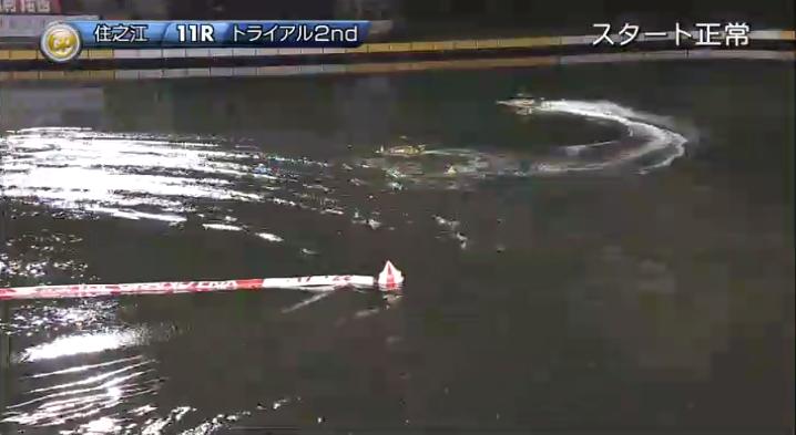 2019年グランプリ(賞金王決定戦)トライアル2nd2日目11R 平本真之選手はすぐにレース復帰 ナイター 住之江競艇場