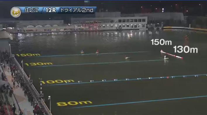 2019年グランプリ(賞金王決定戦)トライアル2nd2日目12R 進入は1234・65の4対2 ナイター 住之江競艇場