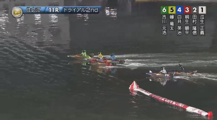 2019年グランプリ(賞金王決定戦)トライアル2nd3日目11R アウト勢回り込んでくる! ナイター 住之江競艇場