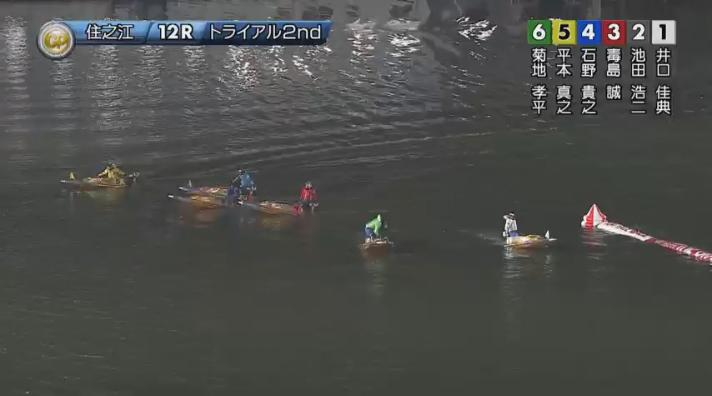 2019年グランプリ(賞金王決定戦)トライアル2nd3日目12R 外枠勢がダッシュへ ナイター 住之江競艇場