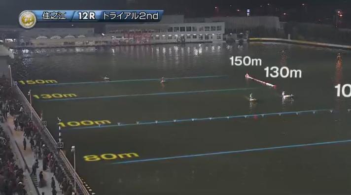 2019年グランプリ(賞金王決定戦)トライアル2nd3日目12R 進入は1632・45の4対2。 ナイター 住之江競艇場