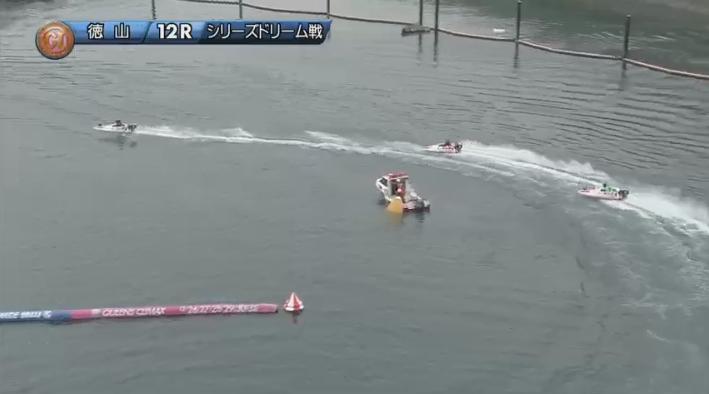 2019年競艇 第8回クイーンズクライマックス ドリーム戦 2周1マーク 徳山競艇場・ボートレース徳山