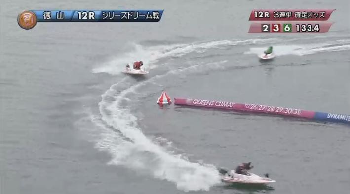 2019年競艇 第8回クイーンズクライマックス ドリーム戦 2周2マーク 徳山競艇場・ボートレース徳山