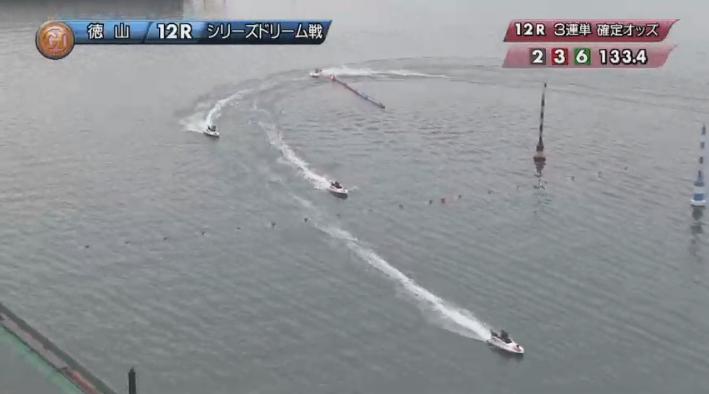 2019年競艇 第8回クイーンズクライマックス ドリーム戦 2周2マーク旋回 徳山競艇場・ボートレース徳山