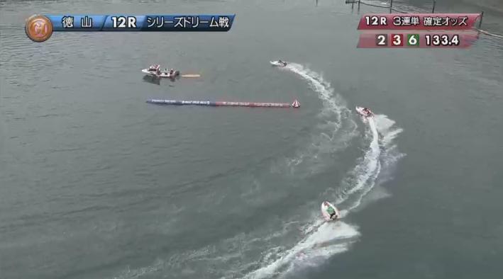 2019年競艇 第8回クイーンズクライマックス ドリーム戦 最終1マーク 徳山競艇場・ボートレース徳山