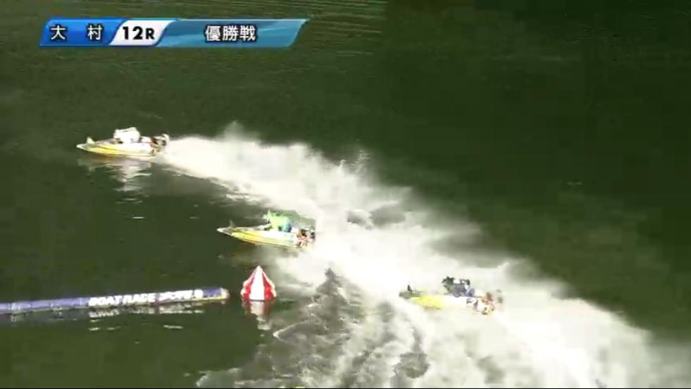 G1海の王者決定戦 優勝戦 2周1マークで桑原悠選手、石野貴之選手と少し差が開く ボートレース大村