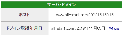 悪徳 ALLSTAR(オールスター) 競艇予想サイトの口コミ検証や無料情報の予想結果も公開中 ドメイン取得日は2019年11月5日