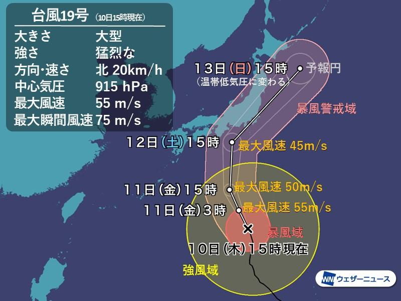 台風19号は12日(土)夜に東海か関東へ上陸見込み。競艇も荒れるレース ボートレース