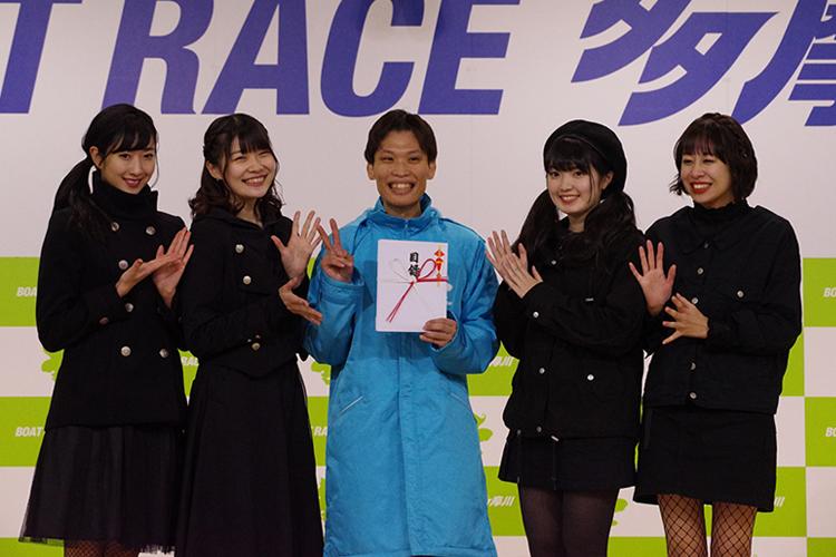 2020年1月12日 Party Rockets GTカップ(パティロケカップ)優勝者表彰の撮影タイムはパティロケと ボートレース多摩川